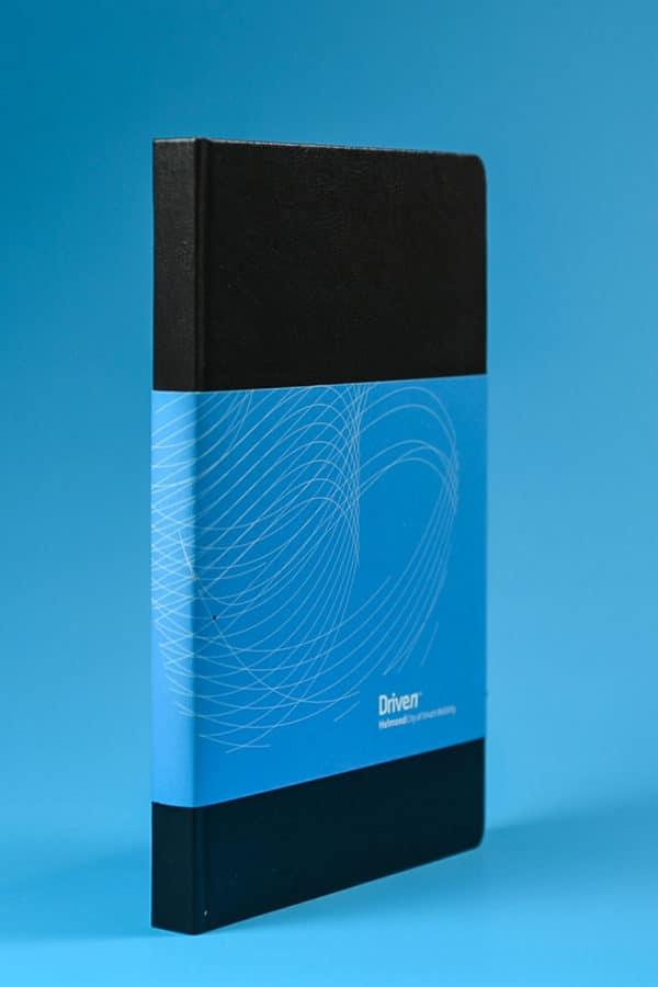 notebook ontwerp met label